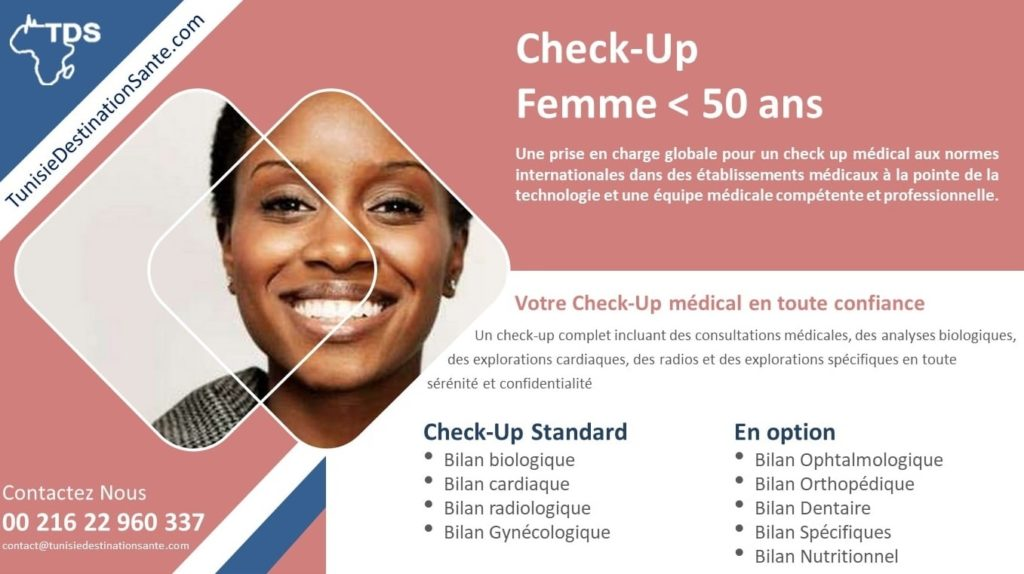bilan santé check up femme