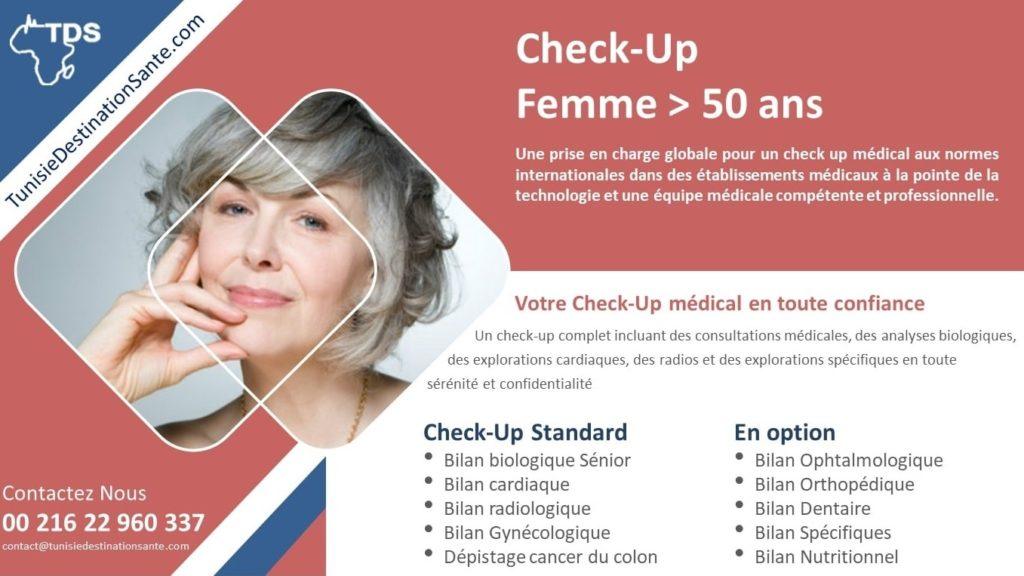 bilan de santé check up femme