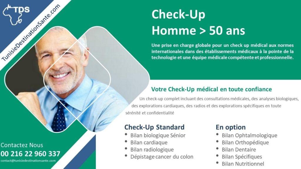 bilan de santé check up homme